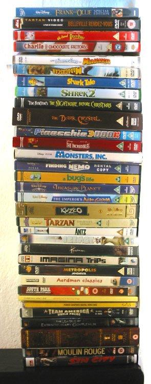 LOT OF 75 Walt Disney Pixar Dreamworks DVDs Classics Kids ...  |Dreamworks Disney Dvd Collection