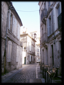 Cobbled street of Angouleme