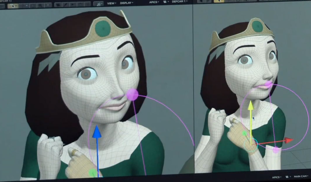 Pixar Brave Wireframes :Animation with a moustache