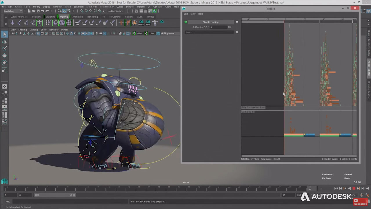 Rigging :Animation with a moustache
